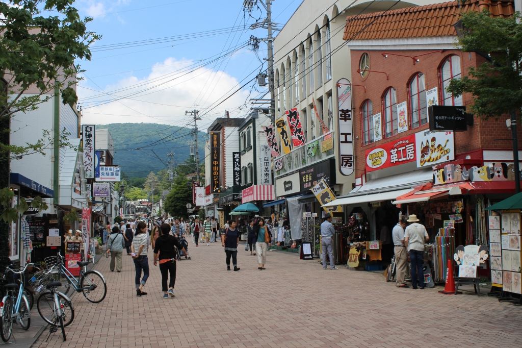 Small-town streets of Karuizawa